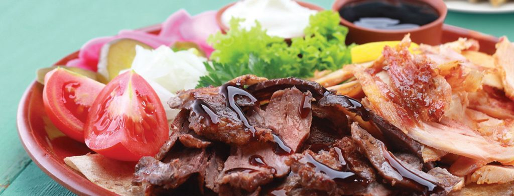 Shawarma - Beef Shawarma Platter - Roman Zaman Restaurant Mississuaga